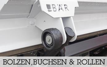 Bolzen, Buchsen & Bodenrollen